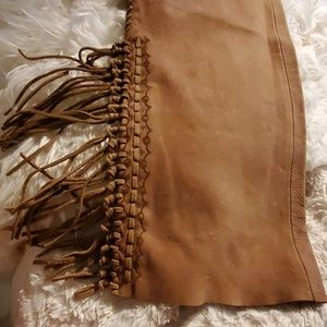 Ralph Lauren fringe 100% real leather pant